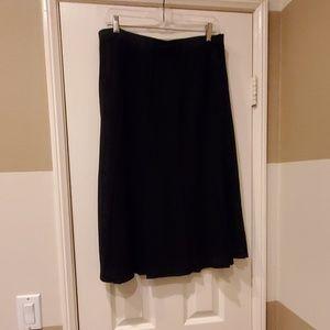 Misook black pleated skirt. Size XL.
